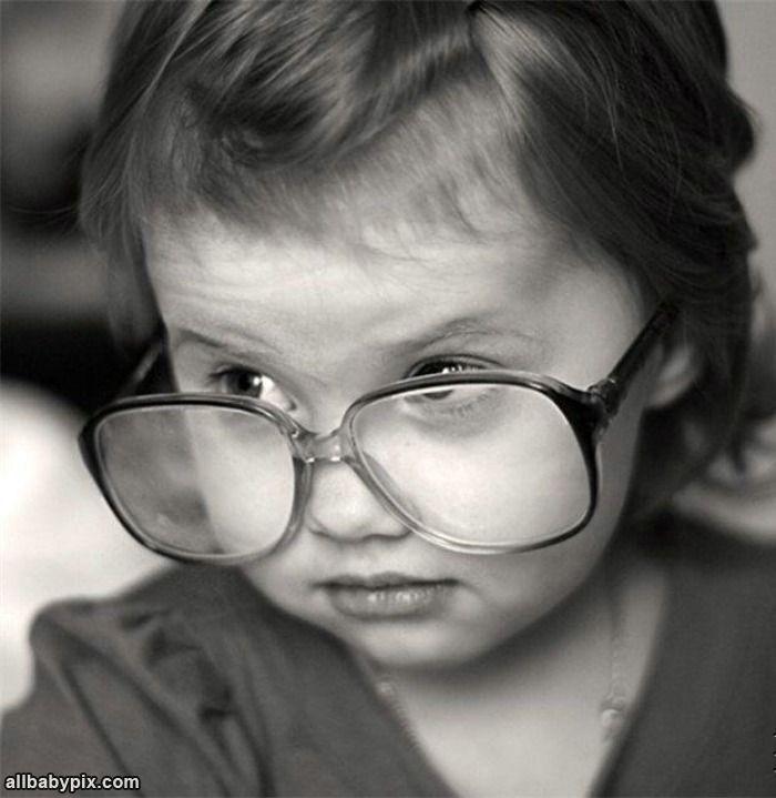 Little girl, big glasses